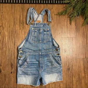 American Eagle Outfitters Raw Hem Overall Shorts